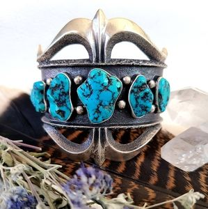 HUGE one of a kind turquoise cuff bracelet